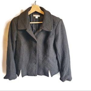Pendleton Petite Womens Pea Coat Medium - Black
